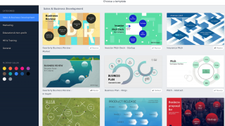 Choose from dozens of editable templates to start your Prezi.