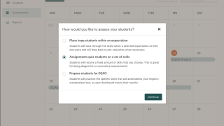 Teachers have access to a number of assessment tools for their students.