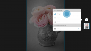 Add layers to begin mixing photos.