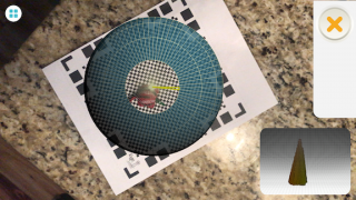 The result appears in the lower right corner as the object scans, but it may not be accurate.