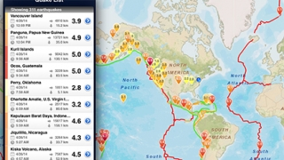 Kids can easily access details about global earthquakes.