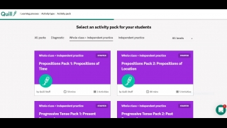 Create your own activity packs or use the already created packs.