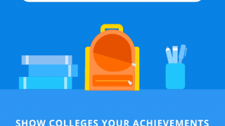 Students can add activities and track scholarship money from the mobile app.