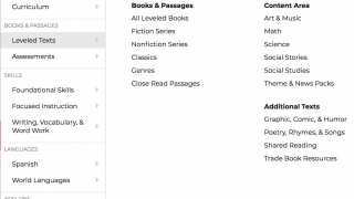 There are books in a variety of genres and subjects.