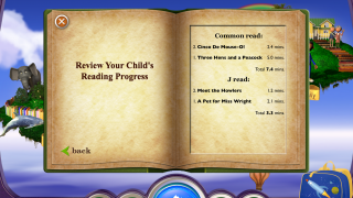Simple reports show what kids are reading and how much time they're spending with the books.