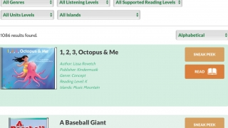 Teachers can browse or search the large library of books and videos.
