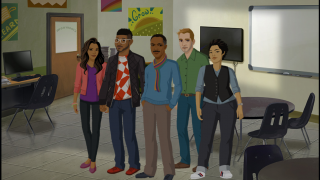 Players act in a leadership role, managing a group of employees.