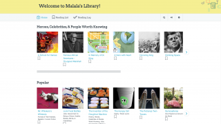 The student library allows kids to curate content according to their own interests.