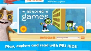 Home page where kids choose where to go on their reading adventure