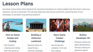 Lesson plans and tutorials help guide teachers using Roblox in the classroom.