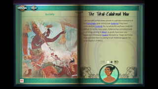 The LEARN Encyclopedia provides a wealth of information inside the game.