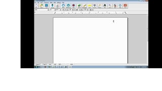 Blank Word document with Scan and Read Pro Toolbar.