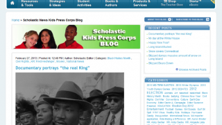 Students can blog about important issues.