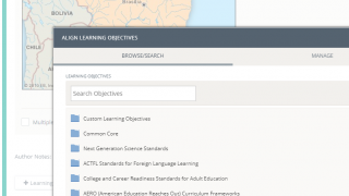Link questions to available objectives or import district-wide learning objectives.