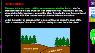 The Earth Science content is good, and page numbers help guide users.