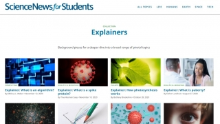 An Explainers Collection provides understandable summaries of key science topics.