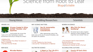 The Blogs page has a wide range of topics to keep students interested.