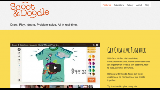 Homepage features an introductory video, suggestions for use in the classroom, a doodle gallery, and the link to enter the Google+ hangout.