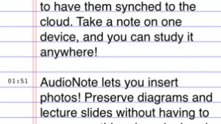 Students can snap images of diagrams and drawings to connect to their notes.