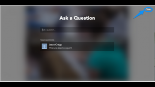 Teachers are able to see and answer live questions from students.
