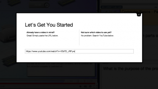 Just add a YouTube link to get started.