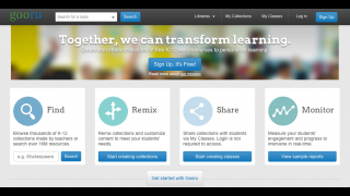 Gooru lets teachers create custom collections of web-based resources for their classroom.