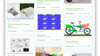 Thumbnail previews and helpful categories make finding the right project super easy.