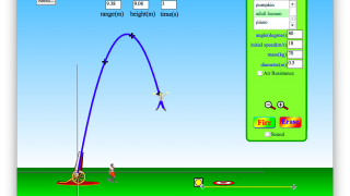 Projectile motion is at its best when made utterly ridiculous.