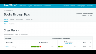 Easily track grade responses, provide feedback, and track student progress.