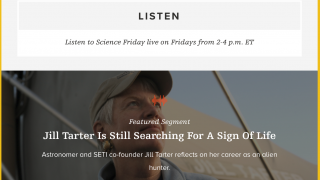 Listen to past shows, podcasts, and stories that have been featured on Science Friday.