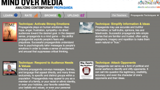The site separates propaganda into four categories.