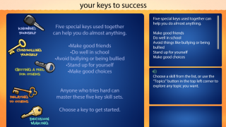 """Students are introduced to """"keys,"""" or areas of emotional learning to focus on."""