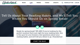 Take a fun quiz to find out where to travel next.