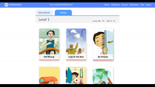 There's a library of 100+ stories and word books grouped into five Lexile levels.