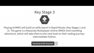 A future multiplayer game will allow students to learn intermediate Python.