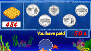 The sizes of the coins might be confusing, with the nickel and quarter appearing the same.