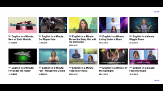 """""""English in a Minute"""" videos help ELLs grasp the meaning of American English idioms."""