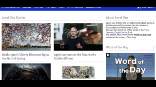 Leveled content makes world news topics accessible to ELLs.