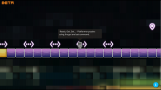Tutorial puzzle levels help players learn the Beta code system.