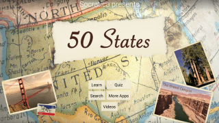 50 States is a flashcard studying and quiz game.