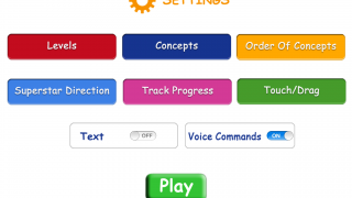A range of settings options allow teachers to customize the learning experience to the individual student.