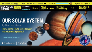 The website of the award-winning children's science author Seymour Simon.