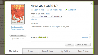 The review-writing screen is easy to use.