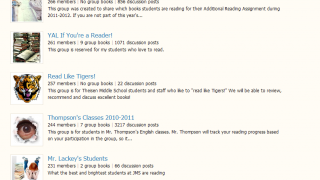 The site offers thousands of teacher-created classroom groups.