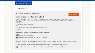 Subscribing teachers can customize details for assignments and classes.