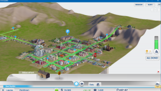 Detailed city maps allow students to solve environmental issues from the perspective of a city planner.