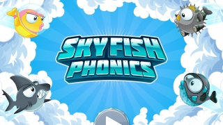 At the homescreen, kids choose a fish costume and a level before they begin playing.