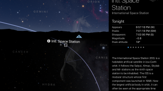 See where the International Space Station is and follow its orbit.