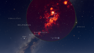 Apply a filter to see the light of space from different areas of the spectrum.