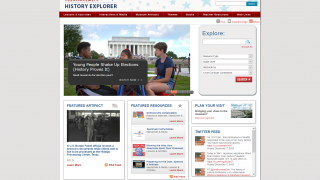Smithsonian's History Explorer offers up many ways to discover history-based educational materials.